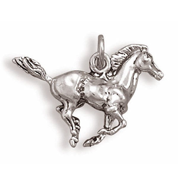 Sterling Silver Running Horse Charm 7796