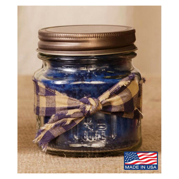 Super Scented Blueberry Mason Jar Candle 8 oz 3C1561-8