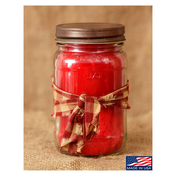 Super Scented Christmas Cheer Mason Jar Candle 16 oz 3C1695-16