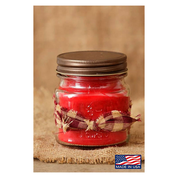 Super Scented Christmas Cheer Mason Jar Candle 8 oz 3C1695-8