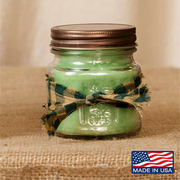 Super Scented Cucumber Melon Mason Jar Candle 8 oz 3C1616-8
