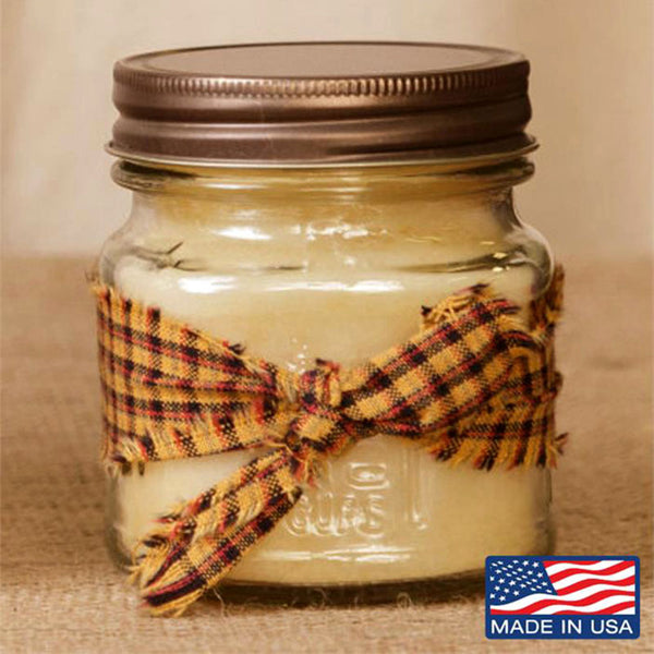 Super Scented French Vanilla Mason Jar Candle 8 oz 3C1565-8