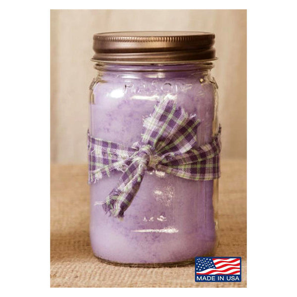 Super Scented Fresh Lilac Mason Jar Candle 16 oz 3C1587-16