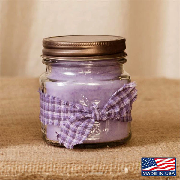 Super Scented Fresh Lilac Mason Jar Candle 8 oz 3C1587-8