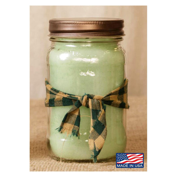 Super Scented Honeydew Melon Mason Jar Candle 16 oz 3C1567-16