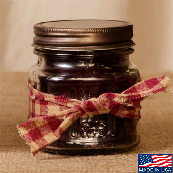 Super Scented Mulberry Mason Jar Candle 8 oz 3C1569-8