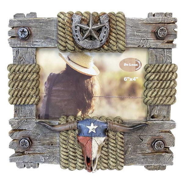 Texas Pride Steer Skull 4x6 Picture Frame DEC-13664