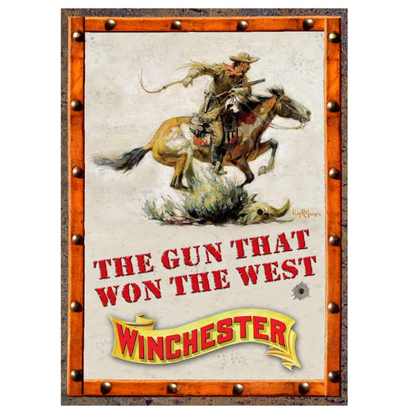 The Gun That Won West Winchester Tin Sign W1023