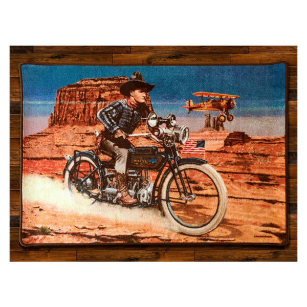 Tom Mix Hell Bent For Leather 1928 Area Rug 0097