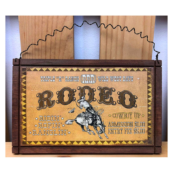 Triple R Ranch Rodeo Advertising Western Sign 28497D