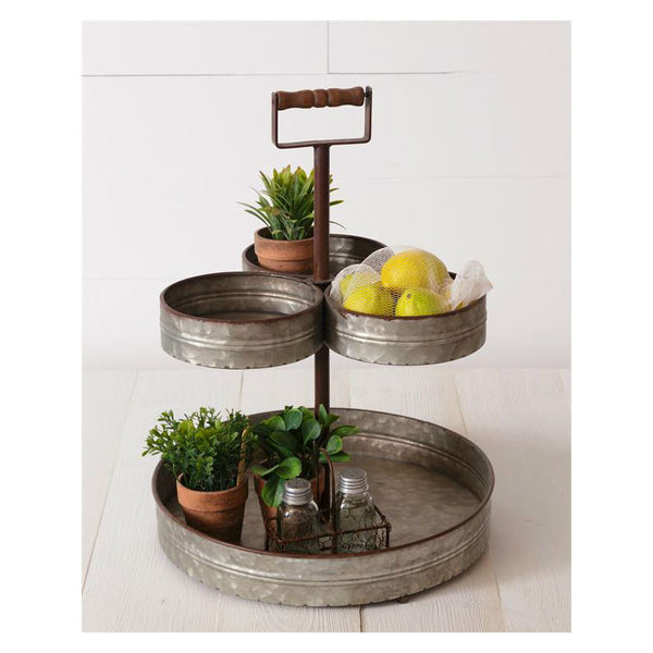 Triple Top Metal Tiered Stand 8T1482
