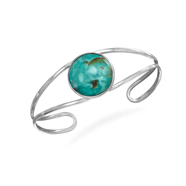 Turquoise Open Band Cuff Bracelet 23308