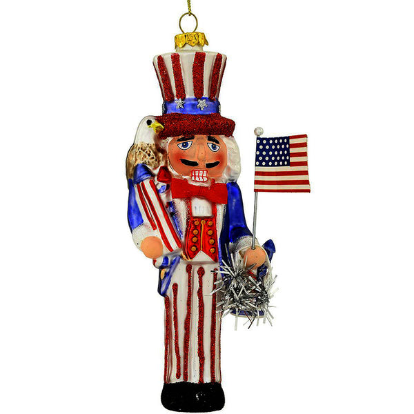 Uncle Sam Nutcracker Glass Ornament 1202512