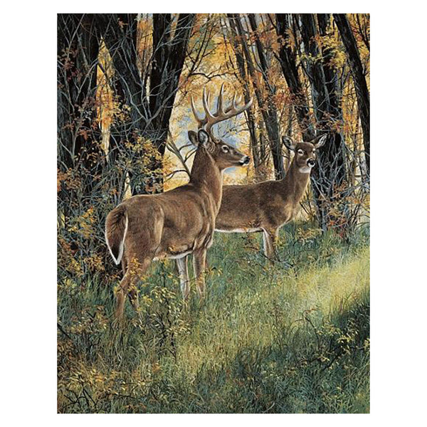 Undercover Deer Fleece Plush Blanket TQ7420