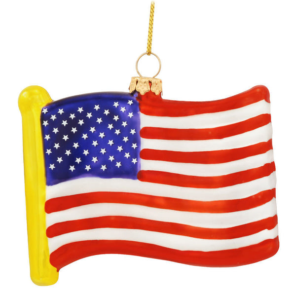 USA Flag Glass Ornament 1095147
