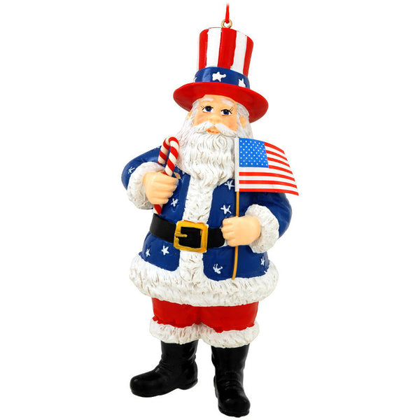 USA Santa Claus with Flag Ornament 1166388
