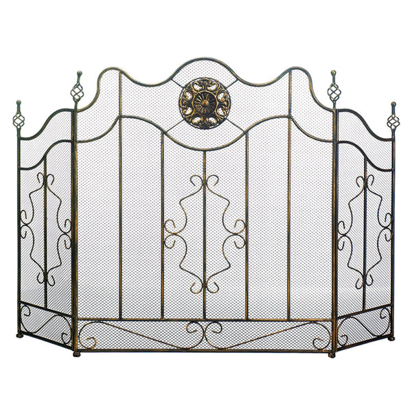 Victorian Black Iron Fireplace Screen 10019007