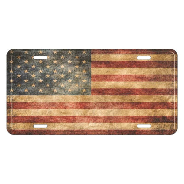Vintage American Flag License Plate LP-9066