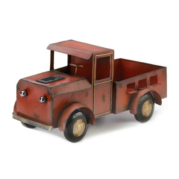 Vintage Red Truck Solar Powered Planter 10018788