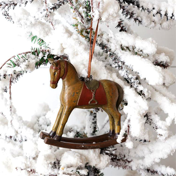 Vintage Rocking Horse Christmas Ornaments 7RS766