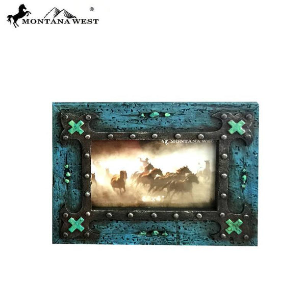 Vintage Wood and Turquoise 4x6 Photo Frame RSP-1859
