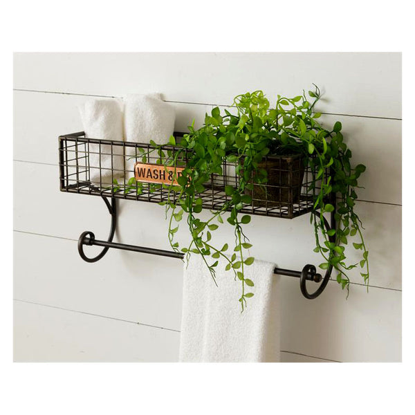 Wash & Dry Wire Shelf with Towel Bar 8T2071