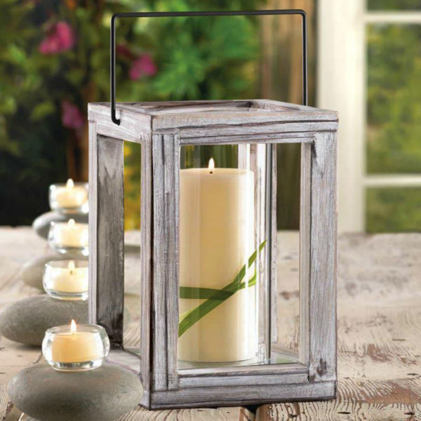 Weathered Wooden Garden Lantern 10015435