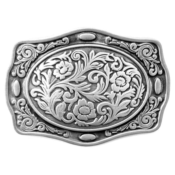 Western Themed Floral Belt Buckle G-4645
