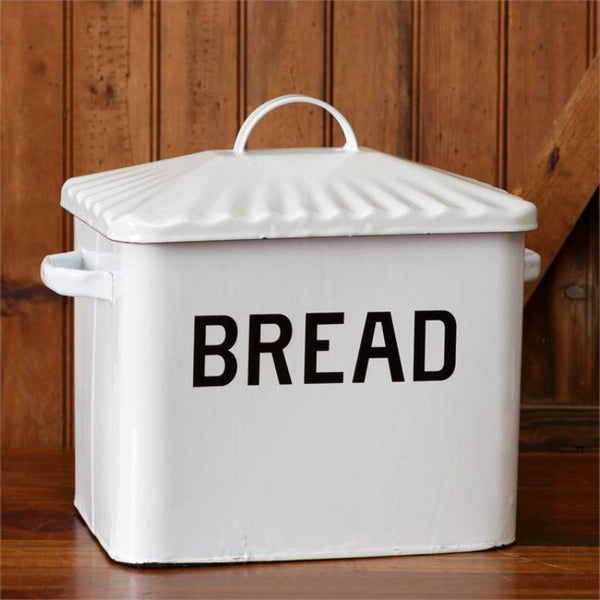 White Enamelware Bread Box 8T1147