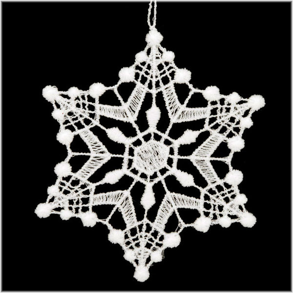 White Lace Snowflake Ornament A