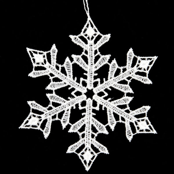 White Lace Snowflake Ornament F 1193364