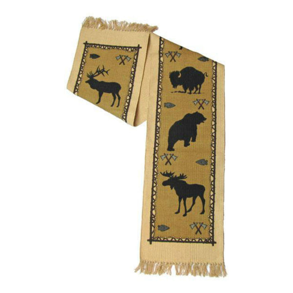 Wildlife Stencil Tapestry Table Runner W-HIRUN14