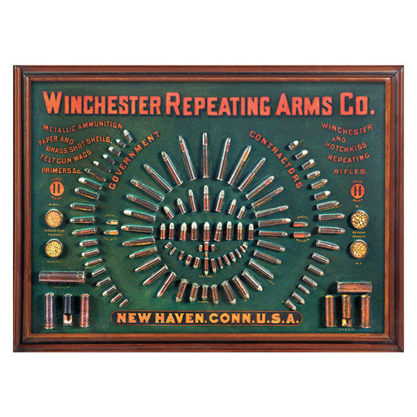Winchester 1884 Cartridge Board Tin Sign W1011
