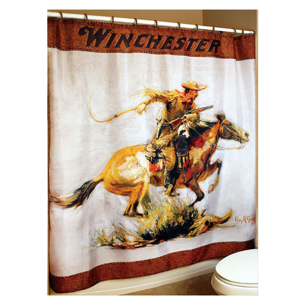 Winchester Horse and Rider Shower Curtain W1230
