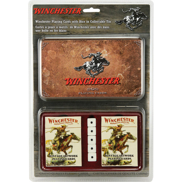 Winchester Playing Cards Collectible Tin W1568