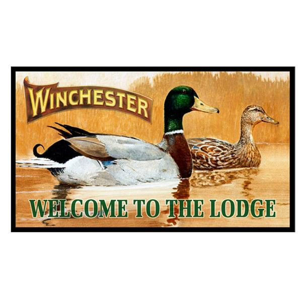 Winchester Welcome To The Lodge Door Mat W1111