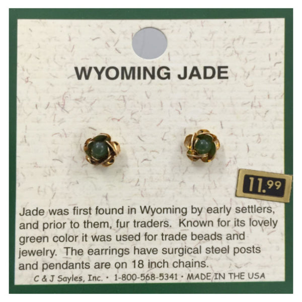 Wyoming Jade Flower Buds Earrings EP4