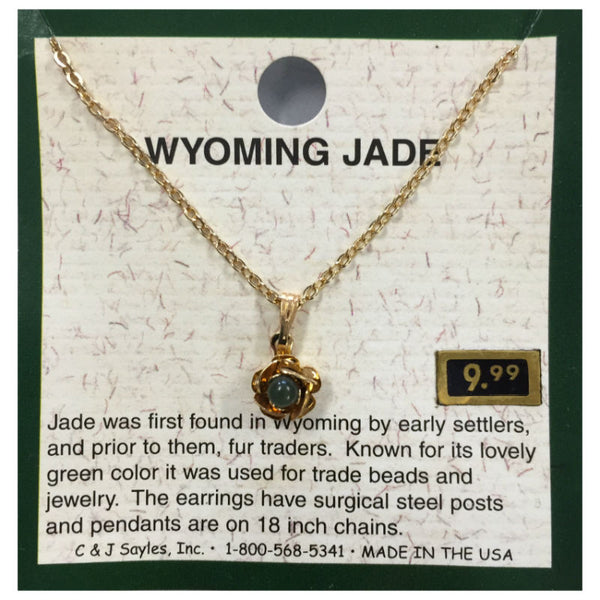Wyoming Jade Flower Buds Necklace PE4