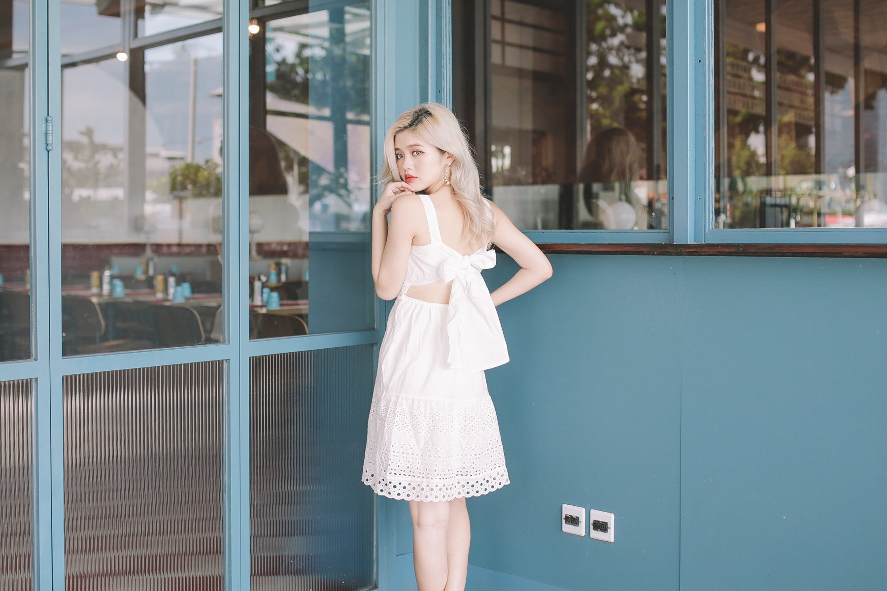 [Restocked] Tie-Back Eyelet Dress