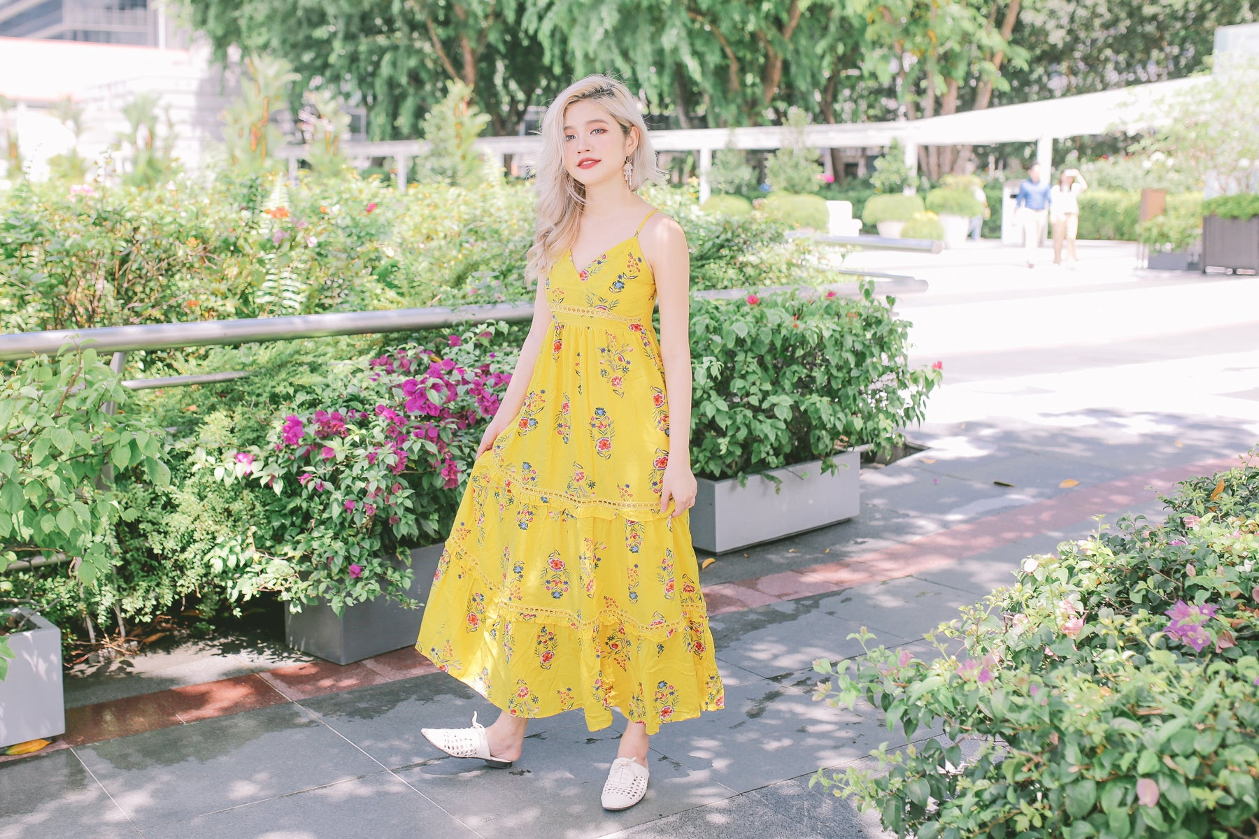 [Restocked] Yellow Floral Maxi Dress