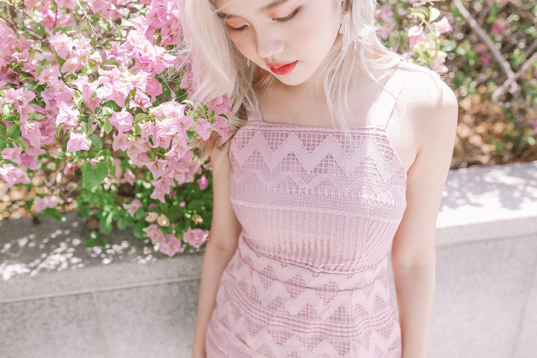 Chiara Lace Dress in Pink