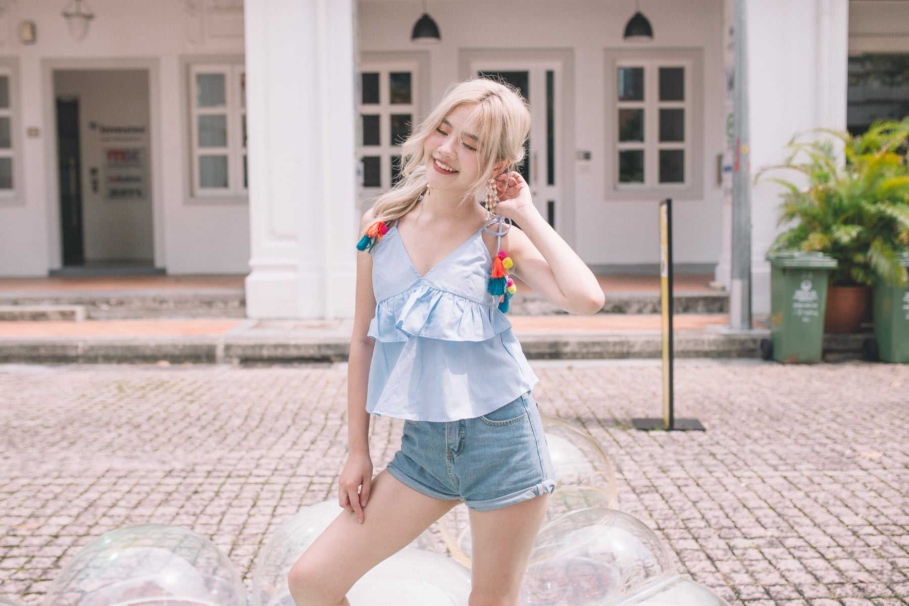 [Restocked] Ruffled Tassel Top