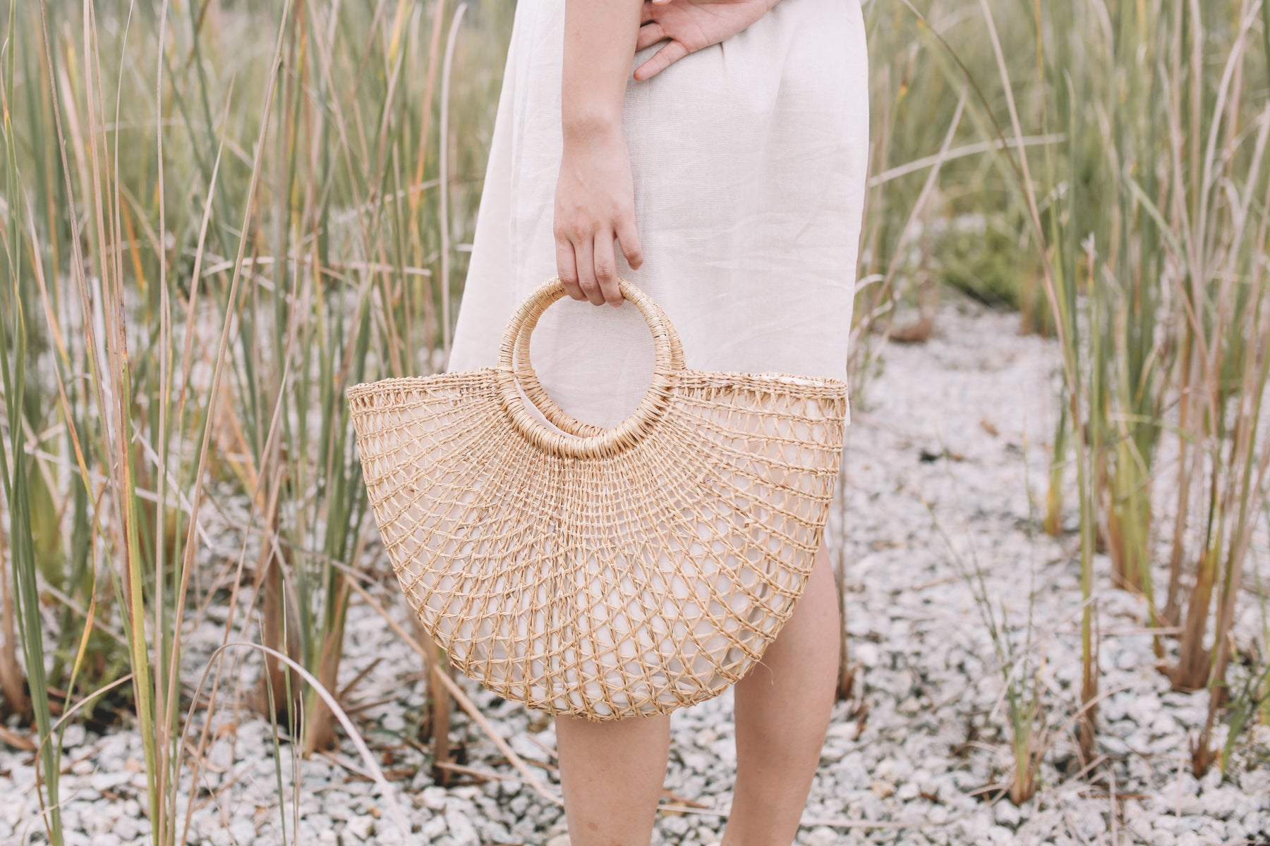 Woven Basket Tote