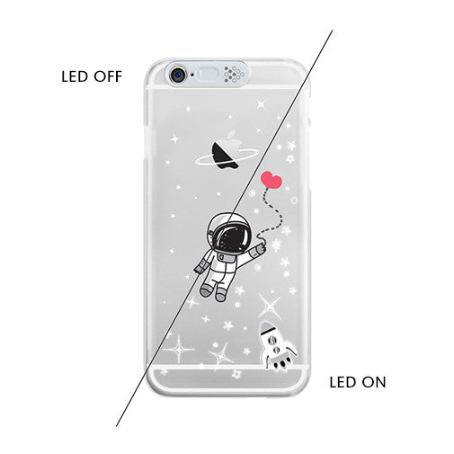 [Restocked] Astronaut LED Lighting Clear Phone Case