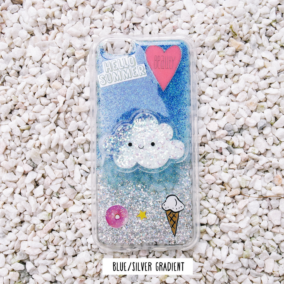 [Restocked] *HANDMADE* Cloud Nine Glitter iPhone Case