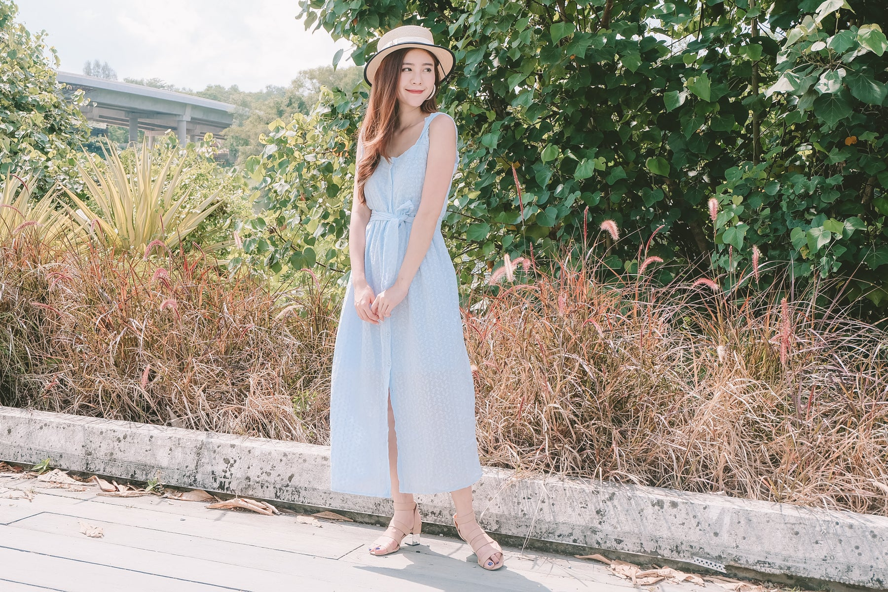 [Restocked] Ophelia Embroidered Eyelet Maxi Dress in Blue