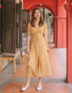 [Restocked] Keira Floral Maxi Dress in Mustard