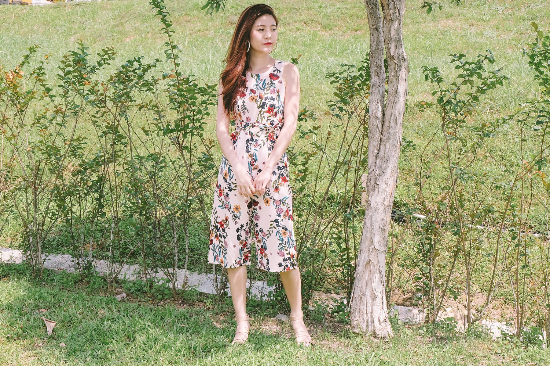 [Restocked] Bevin Floral Jumpsuit in Pink