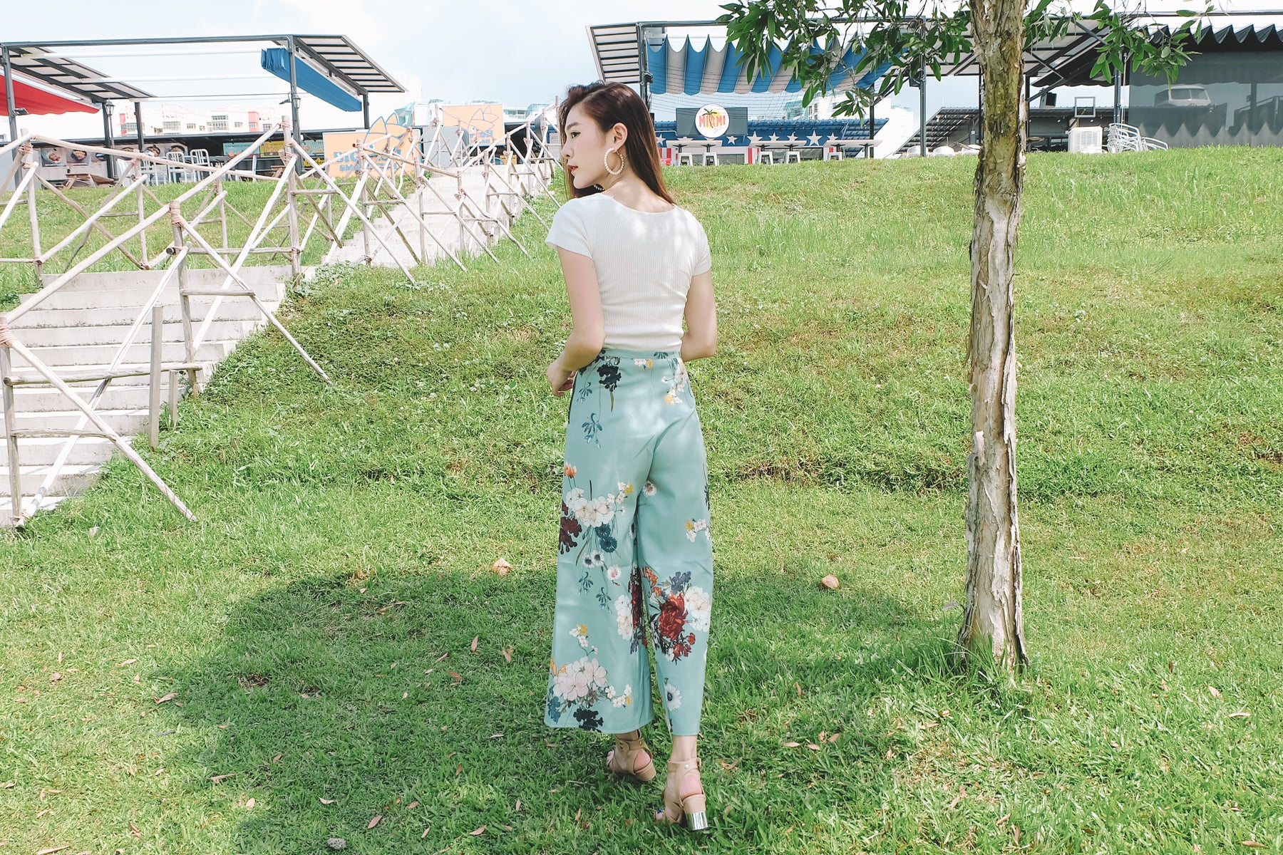 [Restocked] Floral Culottes in Mint