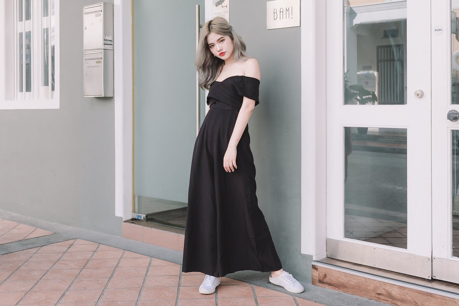 Bardot Jumpsuit in Black